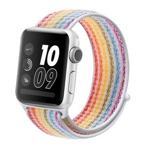NEW RAINBOW Breathable Strap Loop  For Apple Watch